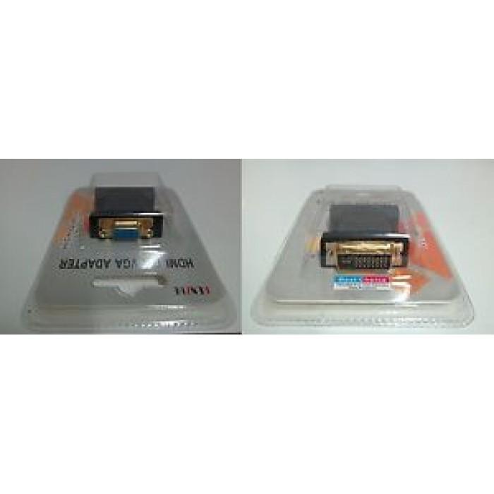 ADATTATORE DVI-I M / VGA F MONITOR VIDEO DIGITALE / ANALOGICO 24+5 PIN DORATO