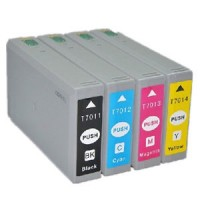 KIT 4 CARTUCCE EPSON COMPATIBILI T7011 T7012 T7013 T7014  WP-4015DN WP-4595DNF