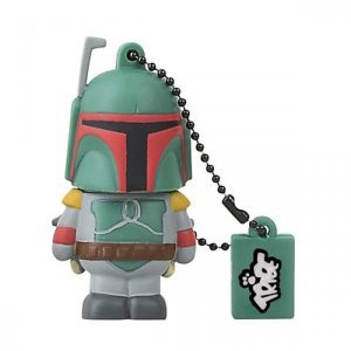 CHIAVETTA USB PEN DRIVE PENDRIVE STAR WARS BOBA FETT 8GB ORIGINALE DISNEY TRIBE