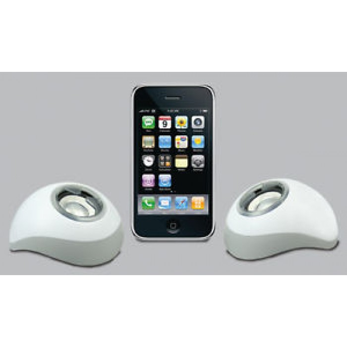 Coppia Casse Speaker portatili USB per apple iphone ipod ipad pc notebook ZERO
