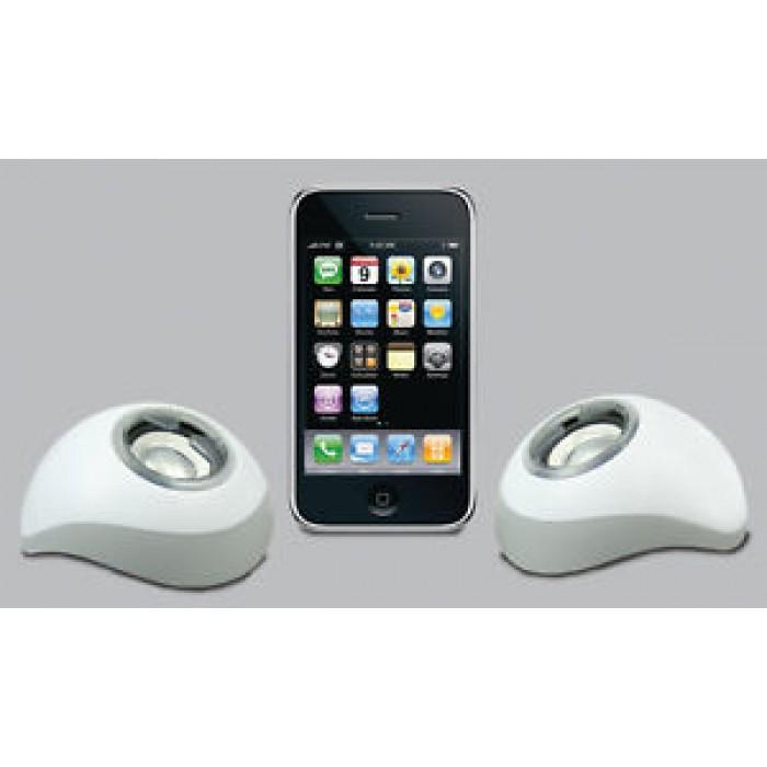 Coppia Casse Speaker portatili USB per apple iphone ipod ipad pc notebook ZERO